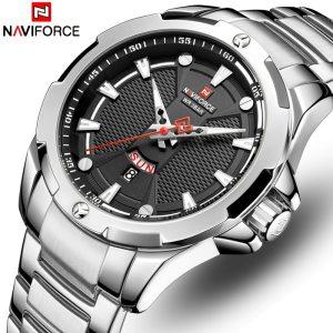 Men s Watches Top Luxury Brand NAVIFORCE Analog Watch Men Stainless Steel Waterproof Quartz Wristwatch Date Innrech Market.com