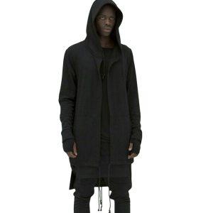 Newly Men Hooded Gown Hip Hop Mantle Coat Hoodies Loose Sweatshirts Long Sleeves Cloak Autumn Winter Innrech Market.com