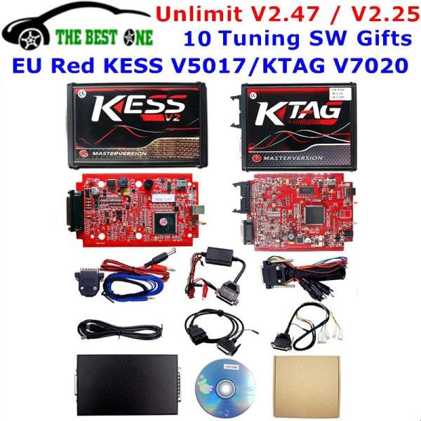 Online V2 47 EU Red Kess V5 017 OBD2 Manager Tuning Kit KTAG V7 020 4 Online V2.47 EU Red Kess V5.017 OBD2 Manager Tuning Kit KTAG V7.020 4 LED Kess V2 5.017 BDM Frame K-TAG V2.25 ECU Programmer