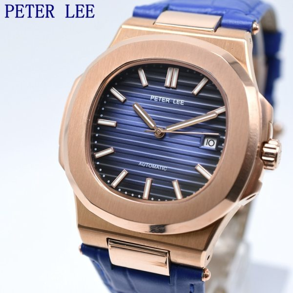 PETER LEE Sport Classic Men Watch Top Brand Leather Straps Mechanical Watch Fashion Male Clocks Business PETER LEE Sport Classic Men Watch Top Brand Leather Straps Mechanical Watch Fashion Male Clocks Business Unisex Watches Gift