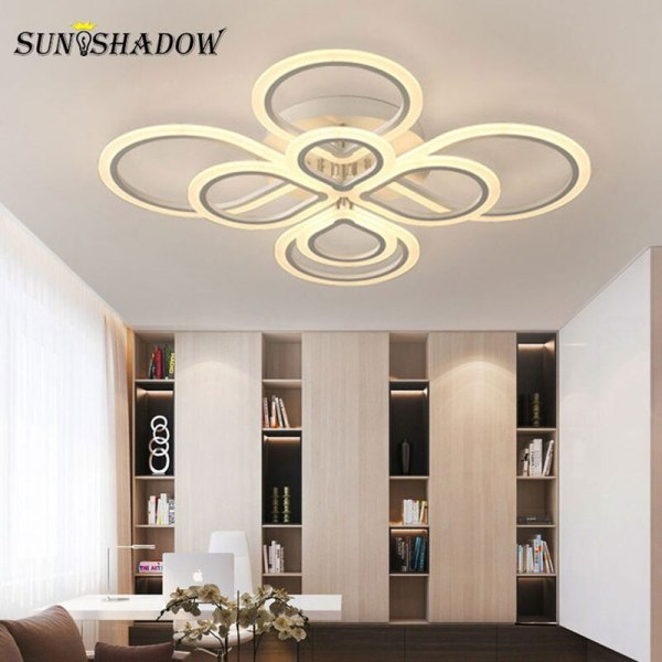 Rings Modern Led Ceiling Light For Living room Bedroom Luminaires Black White Acrylic Surface Mounted Chandelier 1 Lamps Plus Chandeliers | Crystal Ceiling Lights | Rings Modern Led Ceiling Light For Living room Bedroom Luminaires Black White Acrylic Surface Mounted Chandelier Ceiling Lamps 001