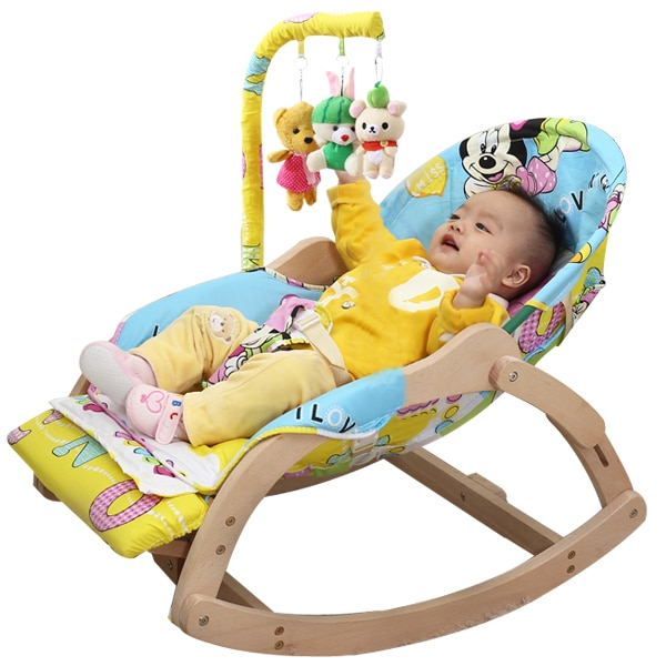 Soothing Chair Rocking Baby Tremble Small Cradle Bed Solid Wood Reclining With Doll To Coax Sleeping 3 Soothing Chair Rocking Baby Tremble Small Cradle Bed Solid Wood Reclining With Doll To Coax Sleeping Artif