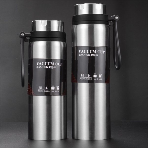 Sports bottle 800ML 1000ML large capacity double stainless steel thermos outdoor travel portable leak proof car Sports bottle 800ML / 1000ML large capacity double stainless steel thermos outdoor travel portable leak-proof car vacuum flask
