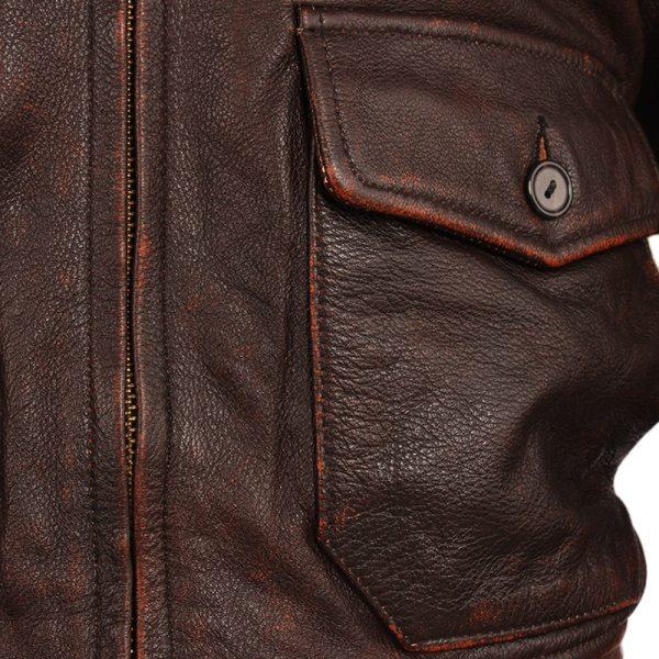 Vintage Distressed Men Leather Jacket Quilted Fur Collar 100 Calfskin Flight Jacket Men s Leather Jacket 3 Vintage Distressed Men Leather Jacket Quilted Fur Collar 100% Calfskin Flight Jacket Men's Leather Jacket Man Winter Coat M253