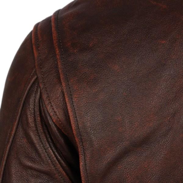 Vintage Distressed Men Leather Jacket Quilted Fur Collar 100 Calfskin Flight Jacket Men s Leather Jacket 4 Vintage Distressed Men Leather Jacket Quilted Fur Collar 100% Calfskin Flight Jacket Men's Leather Jacket Man Winter Coat M253