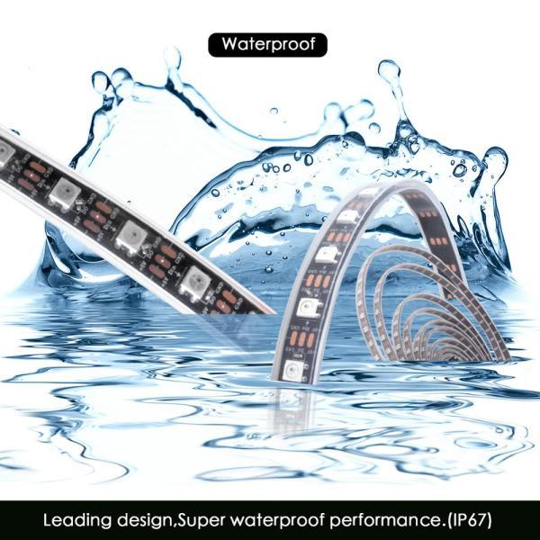 WS2812B DC 5V LED Strip RGB 50CM 1M 2M 3M 4M 5M 30 60 144 LEDs 3 WS2812B DC 5V LED Strip RGB 50CM 1M 2M 3M 4M 5M 30/60/144 LEDs Smart Addressable Pixel Black White PCB WS2812 IC 17Key Bar