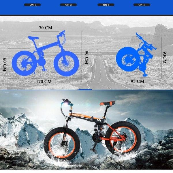 """wolf s fang Mountain Bike 20 x 4 0 Folding Bicycle 21 speed road bike fat 3 wolf's fang Mountain Bike 20""""x 4.0 Folding Bicycle 21 speed road bike fat bike variable speed bike Mechanical Disc Brake"""