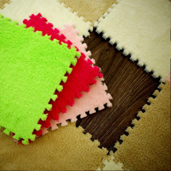 10Pcs Lot Children s Rug Soft Plush Baby Play Mat Toys Eva Foam Kids Rug Puzzle 3 10Pcs/Lot Children's Rug Soft Plush Baby Play Mat Toys Eva Foam Kids Rug Puzzle Children's Mat Interlock Floor Playmat 30*30 CM