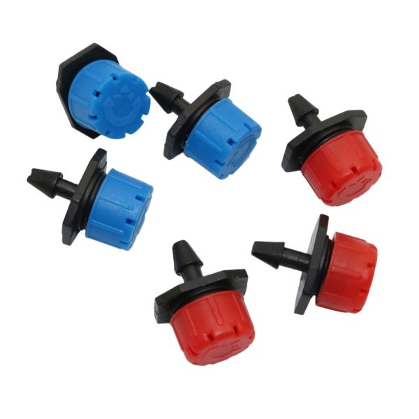25 Pcs 8 hole Garden Irrigation Misting Micro Flow Dripper Drip Head 1 4 Hose Drip 25 Pcs 8 hole Garden Irrigation Misting Micro Flow Dripper Drip Head 1/4'' Hose Drip irrigation system Watering