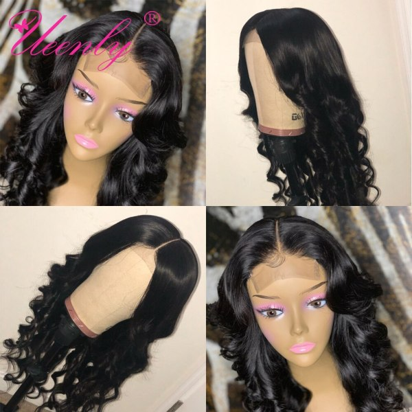 4x4 Closure Wig Brazilian Body Wave Lace Closure Human Hair Wigs Pre Plucked With Baby Hair 4x4 Closure Wig Brazilian Body Wave Lace Closure Human Hair Wigs Pre Plucked With Baby Hair UEENLY Remy Hair Closure Wigs