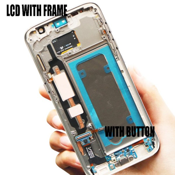 5 1 Burn Shadow LCD With Frame For SAMSUNG Galaxy S7 Display G930 G930F Touch Screen 4 5.1'' Burn-Shadow LCD With Frame For SAMSUNG Galaxy S7 Display G930 G930F Touch Screen Digitizer Replacement With Service Pack