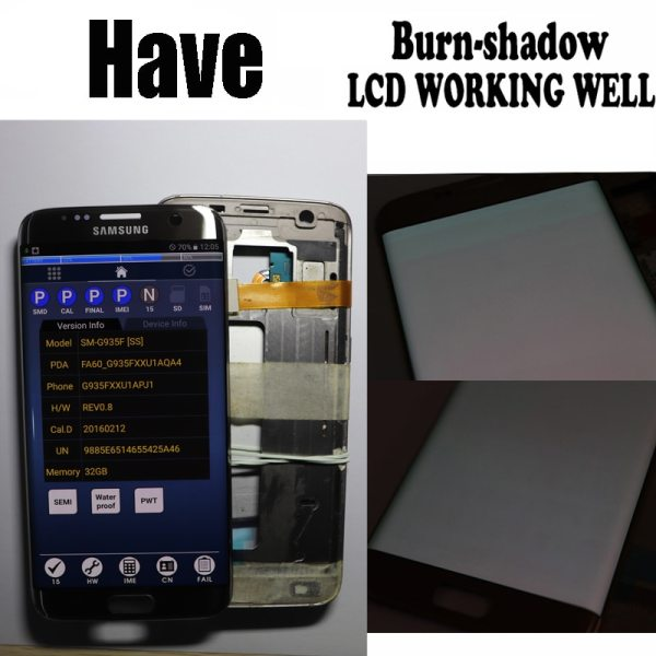 5 5 Replacement The Burn Shadow Display For SAMSUNG S7 Edge Pantalla G935 G935F LCD Screen 1 5.5'' Replacement The Burn-Shadow Display For SAMSUNG S7 Edge Pantalla G935 G935F LCD Screen Repair With Frame + Service Pack