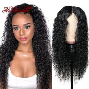 Curly Human Hair Wig 4 4 5 5 Lace Closure Human Hair Wigs With Baby Hair Innrech Market.com