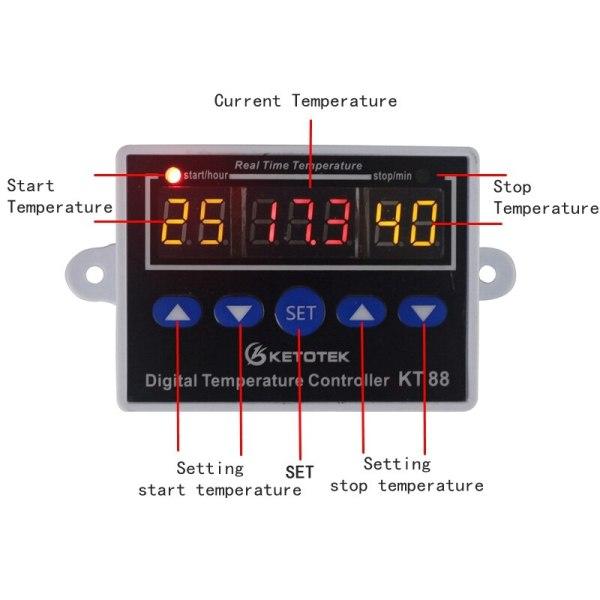 Digital Thermostat 12V 24V 110V 220V Temperature Controller Temperature Regulator Control Switch Relay Output 10A 220VAC 1 Digital Thermostat 12V 24V 110V 220V Temperature Controller Temperature Regulator Control Switch Relay Output 10A 220VAC