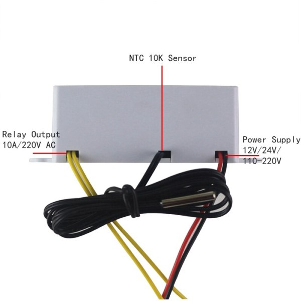 Digital Thermostat 12V 24V 110V 220V Temperature Controller Temperature Regulator Control Switch Relay Output 10A 220VAC 3 Digital Thermostat 12V 24V 110V 220V Temperature Controller Temperature Regulator Control Switch Relay Output 10A 220VAC