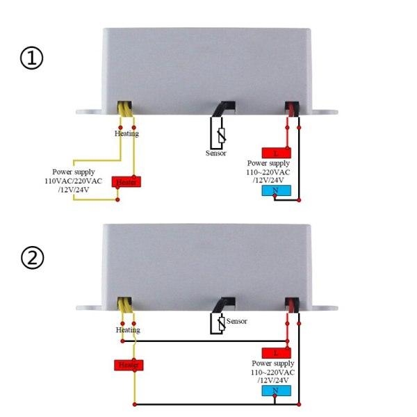Digital Thermostat 12V 24V 110V 220V Temperature Controller Temperature Regulator Control Switch Relay Output 10A 220VAC 4 Digital Thermostat 12V 24V 110V 220V Temperature Controller Temperature Regulator Control Switch Relay Output 10A 220VAC