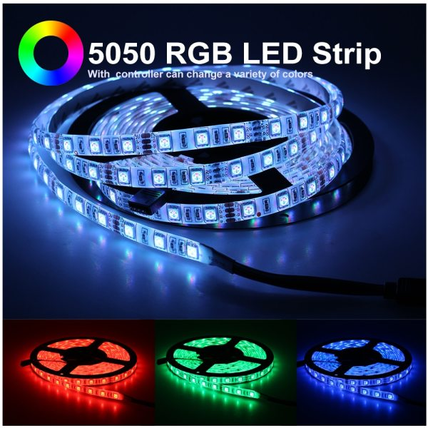 LED Strip 5050 2835 DC12V Flexible LED Light Tape 60LEDs M White Warm White Blue Green 1 LED Strip 5050 2835 DC12V Flexible LED Light Tape 60LEDs/M White / Warm White / Blue / Green / Red Waterproof RGB LED Strip 5M