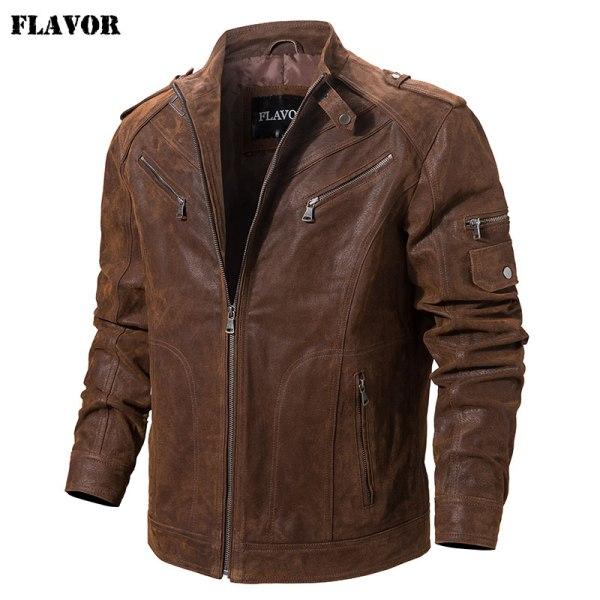 Men s Pigskin Real Leather Jacket Genuine Leather Jackets Motorcycle Jacket Coat Men 1 Men's Pigskin Real Leather Jacket Genuine Leather Jackets Motorcycle Jacket Coat Men