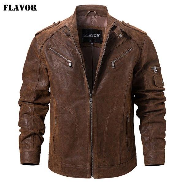 Men s Pigskin Real Leather Jacket Genuine Leather Jackets Motorcycle Jacket Coat Men Men's Pigskin Real Leather Jacket Genuine Leather Jackets Motorcycle Jacket Coat Men