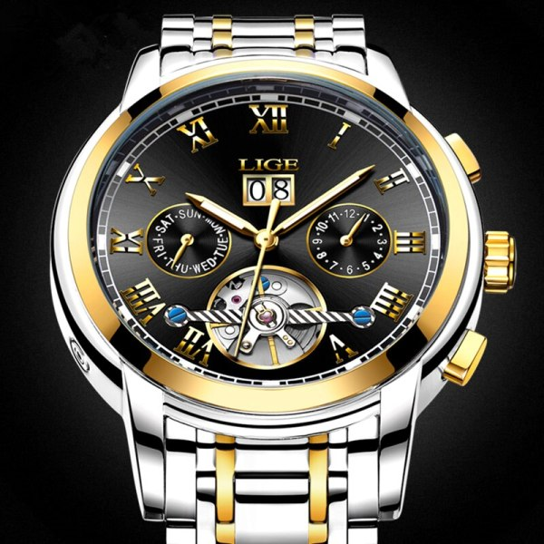 Mens Watches Top Brand LIGE Fashion Luxury Business Automatic Mechanical Men Military Steel Waterproof Clock Relogio 2 Mens Watches Top Brand LIGE Fashion Luxury Business Automatic Mechanical Men Military Steel Waterproof Clock Relogio Masculino