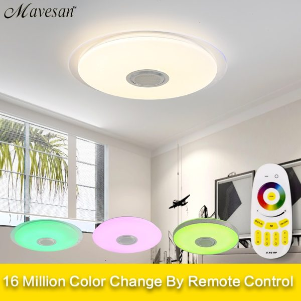Music LED ceiling Lights RGB APP and Remote control ceiling lamp bedroom 25W 36W 52W living 1 Music LED ceiling Lights RGB APP and Remote control ceiling lamp bedroom 25W 36W 52W living room light lampara de techo