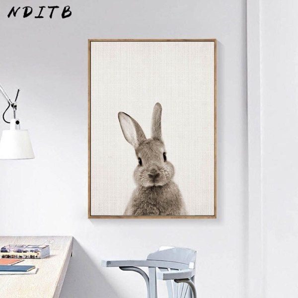 NDITB Rabbit Bunny Butt Tail Canvas Art Poster Woodland Baby Animal Nursery Print Painting Wall Picture 3 NDITB Rabbit Bunny Butt Tail Canvas Art Poster Woodland Baby Animal Nursery Print Painting Wall Picture for Living Room Decor