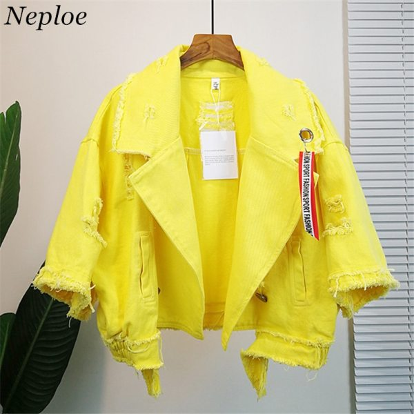 Neploe Pockets Women Denim Jacket Pole Female Loose Coat 2019 Autumn Winter New Cool Girl Outwear Neploe Pockets Women Denim Jacket Pole Female Loose Coat 2019 Autumn Winter New Cool Girl Outwear 69201