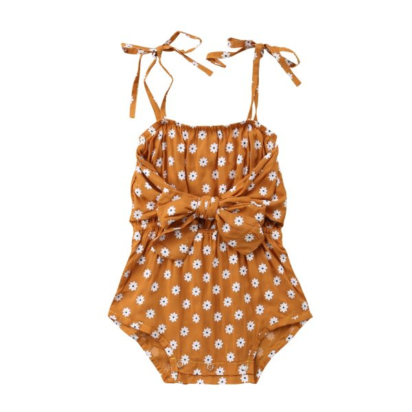 Newborn Baby Girl Strap Bowknot Floral Romper Polka Dot Jumpsuit Outfits Sunsuit Newborn Baby Girl Strap Bowknot Floral Romper Polka  Dot Jumpsuit Outfits Sunsuit