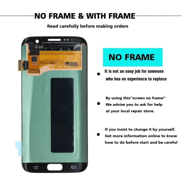 ORIGINAL 5 5 Display with the Burn Shadow LCD with Frame for SAMSUNG Galaxy S7 edge 4 ORIGINAL 5.5'' Display with the Burn-Shadow LCD with Frame for SAMSUNG Galaxy S7 edge G935 G935F Touch Screen Digitizer Assembly