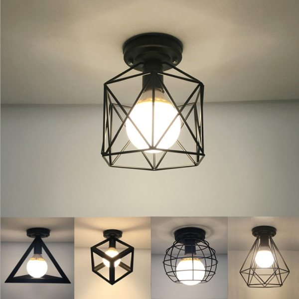 Vintage Ceiling Lamp For Living Room Bedroom Nordic Wrought Iron Retro Corridor Aisle For Living Room Vintage Ceiling Lamp For Living Room Bedroom Nordic Wrought Iron Retro Corridor Aisle For Living Room Bar Ceiling Light