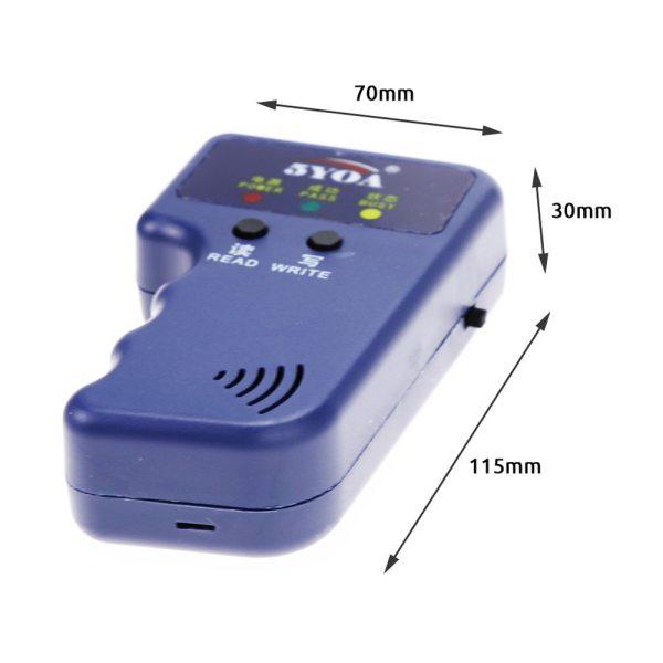 125KHz EM4100 RFID Copier Writer Duplicator Programmer Reader T5577 EM4305 Rewritable ID Keyfobs Tags Card 5200 3 125KHz EM4100 RFID Copier Writer Duplicator Programmer Reader + T5577 EM4305 Rewritable ID Keyfobs Tags Card 5200 Handheld
