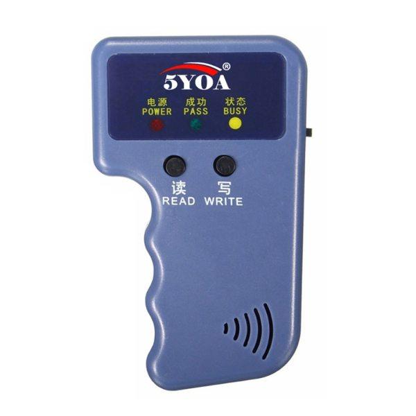 125KHz EM4100 RFID Copier Writer Duplicator Programmer Reader T5577 EM4305 Rewritable ID Keyfobs Tags Card 5200 5 125KHz EM4100 RFID Copier Writer Duplicator Programmer Reader + T5577 EM4305 Rewritable ID Keyfobs Tags Card 5200 Handheld