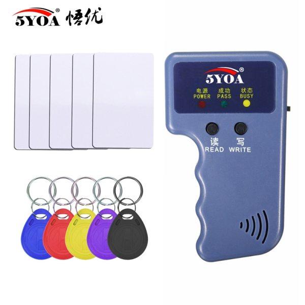 125KHz EM4100 RFID Copier Writer Duplicator Programmer Reader T5577 EM4305 Rewritable ID Keyfobs Tags Card 5200 125KHz EM4100 RFID Copier Writer Duplicator Programmer Reader + T5577 EM4305 Rewritable ID Keyfobs Tags Card 5200 Handheld
