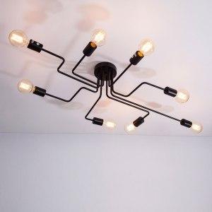 4 6 8 Heads Multiple Rod Wrought Iron Ceiling Light Retro Industrial Loft Nordic Dome Lamp Innrech Market.com