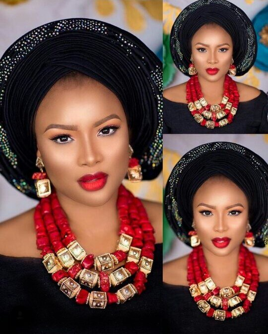 Big Real Coral Bead Traditional Nigerian Wedding African Coral Beads Jewelry Set Women Party Anniversary Gift 1 Big Real Coral Bead Traditional Nigerian Wedding African Coral Beads Jewelry Set Women Party Anniversary Gift Jewelry CNR885