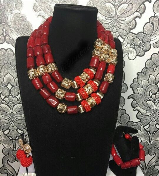 Big Real Coral Bead Traditional Nigerian Wedding African Coral Beads Jewelry Set Women Party Anniversary Gift 2 Big Real Coral Bead Traditional Nigerian Wedding African Coral Beads Jewelry Set Women Party Anniversary Gift Jewelry CNR885