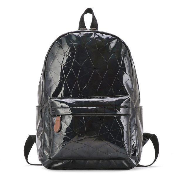 Large Travel Bags Laser Backpack Women Men Girls Bag PU Leather Holographic Backpack School Bags for Large Travel Bags Laser Backpack Women Men Girls Bag PU Leather Holographic Backpack School Bags for Teenage Girls fashion bag