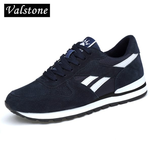 Valstone Men s Genuine leather sneakers Breathable casual shoes non slip outdoor walking shoes light weight Valstone Men's Genuine leather sneakers Breathable casual shoes non-slip outdoor walking shoes light weight Rubber sole lace-up