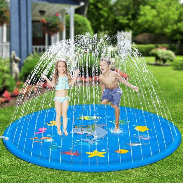 100cm Outdoor Lawn Beach Sea Animal Inflatable Water Spray Kids Sprinkler Play Pad Mat Water Games 100cm Outdoor Lawn Beach Sea Animal Inflatable Water Spray Kids Sprinkler Play Pad Mat Water Games Beach Mat Cushion Toys