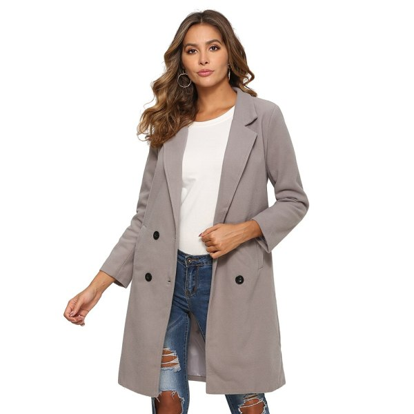 2018 New Women Long Sleeve Turn Down Collar Outwear Jacket Wool Blend Coat Casual Autumn Winter 5 2018 New Women Long Sleeve Turn-Down Collar Outwear Jacket Wool Blend Coat Casual Autumn Winter Elegant Overcoat Loose Plus Size