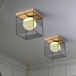 2019 New Nordic Indoor Wood Led Ceiling Light Fixture Luminaire Modern Iron Net Bedroom Corridor Hallway Innrech Market.com