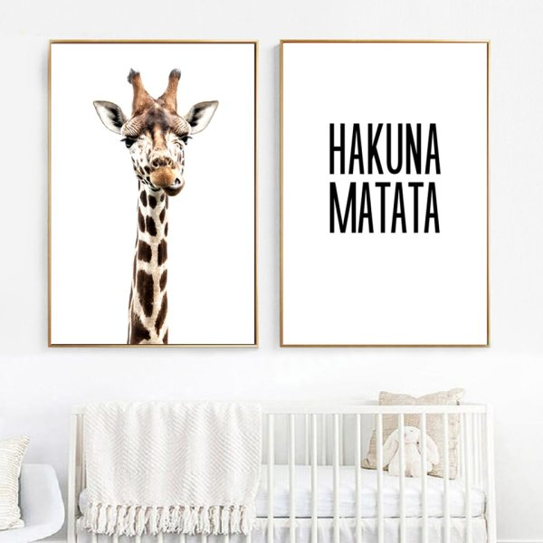 Canvas Printed Poster Home Decorative Animal Giraffe Quotes Nordic Poster Painting Wall Artwork Pictures Living Room Canvas Printed Poster Home Decorative Animal Giraffe Quotes Nordic Poster Painting Wall Artwork Pictures Living Room Modular