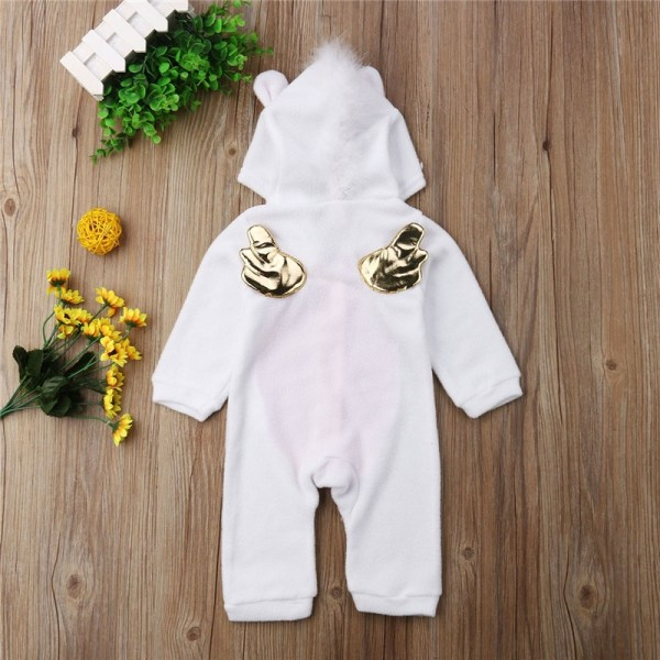 Emmababy Baby Girl 3D Unicorn Flannel Rompers Fashion ropa bebe girls Cartoon Hooded warm zipper Jumpsuit 3 Emmababy Baby Girl 3D Unicorn Flannel Rompers Fashion ropa bebe girls Cartoon Hooded warm zipper Jumpsuit Newborn Romper Clothes
