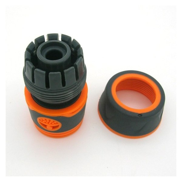 """Garden Sprinkle 1 2 or 3 4 Water Hose Connector Pipe Adaptor Tap Hose Pipe Fitting 2 Garden Sprinkle 1/2"""" or 3/4"""" Water Hose Connector Pipe Adaptor Tap Hose Pipe Fitting Set Quick connector with Rubber Material"""