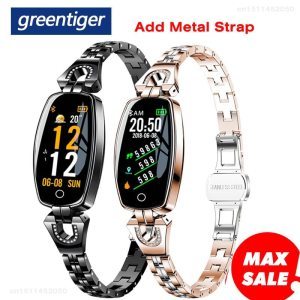 Greentiger H8 Smart Bracelet Women Activity Fitness Tracker Heart Rate Monitor Blood Pressure IP67 Waterproof Smart Innrech Market.com