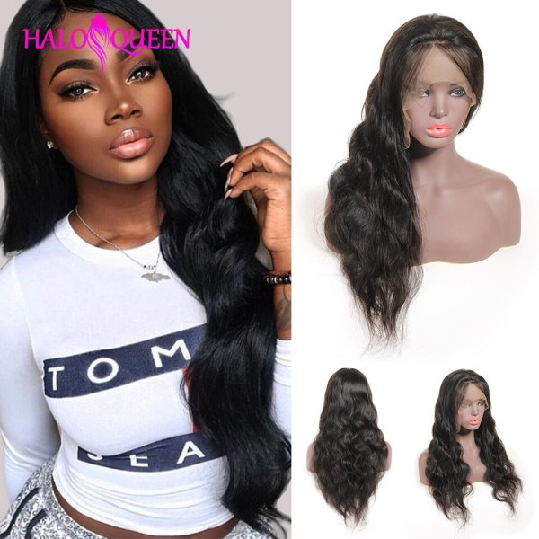 HALOQUEEN Hair Human Wigs Raw Indian 13X4 Lace Closure Wig Body Wave Pre Plucked Baby Hair 2 HALOQUEEN Hair Human Wigs Raw Indian 13X4 Lace Closure Wig Body Wave Pre-Plucked Baby Hair 8-28 Inch Non Remy Human Hair