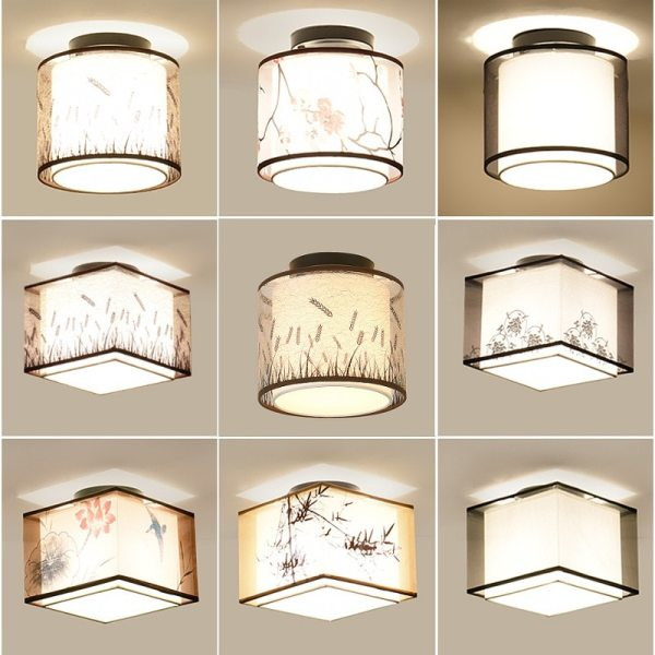 Hot 17 Types Chinese Style LED Light Ceiling E27 110V 220V Fabric Ceiling Lamp for Living LED Ceiling Lights for Living Room | Living Room Ceiling Lights | Hot 17 Types Chinese Style LED Light Ceiling E27 110V 220V Fabric Ceiling Lamp for Living Room Aisle Balcony Porch