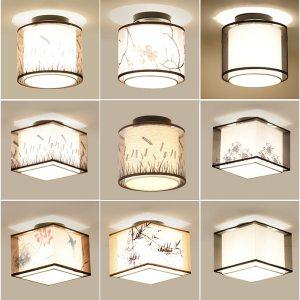Hot 17 Types Chinese Style LED Light Ceiling E27 110V 220V Fabric Ceiling Lamp for Living Innrech Market.com