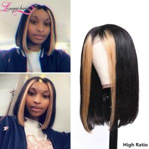 Longqi Highlight 27 Bob Lace Front Wigs High Ratio 180 13x4 Lace Front Human Hair Wigs Innrech Market.com