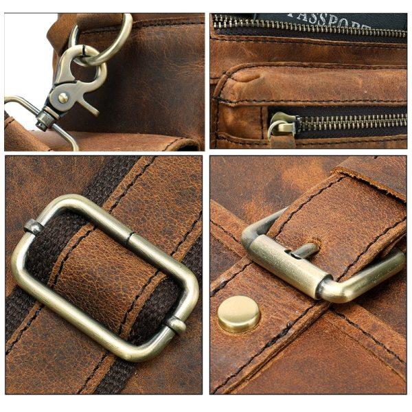 MVA Genuine Leather Men s Briefcase Messenger Bag Men s Leather Laptop Bag For men Office 5 MVA Genuine Leather Men's Briefcase Messenger Bag Men's Leather Laptop Bag For men Office Bags For Men Briefcase Handbags 8537